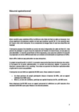 Business Plan Foot-indoor-foot-en-salle Page 2
