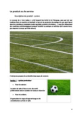 Business Plan Foot-indoor-foot-en-salle Page 4