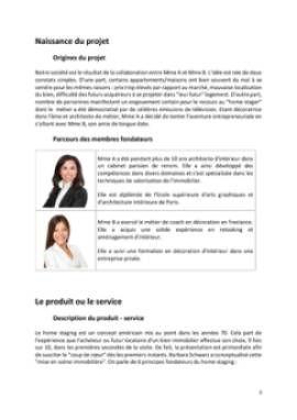 Business Plan Home-staging-decorateur-dinterieur Page 3