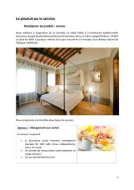 Business Plan Hotel-restaurant Page 5