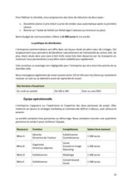 Business Plan Institut-de-beaute Page 10