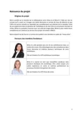 Business Plan Institut-de-beaute Page 3