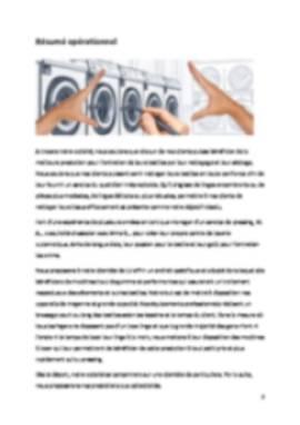 Business Plan Laverie-automatique Page 2