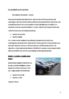 Business Plan Location-voiture Page 5