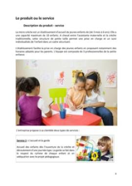 Business Plan Micro-creche Page 4