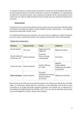 Business Plan Micro-creche Page 8