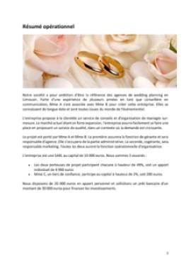 Business Plan Organisateur-de-mariages-wedding-planner Page 2