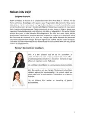 Business Plan Organisateur-de-mariages-wedding-planner Page 3