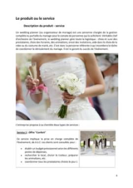 Business Plan Organisateur-de-mariages-wedding-planner Page 4