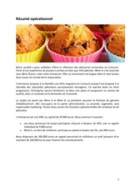 Business Plan Patisserie Page 2