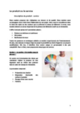 Business Plan Peintre-en-batiment Page 5