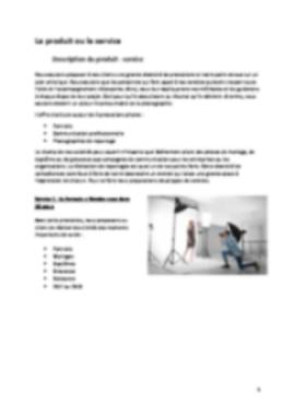 Business Plan Photographe Page 5