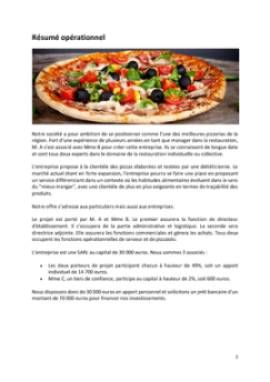 Business Plan Pizzeria Page 2