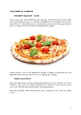 Business Plan Pizzeria Page 5