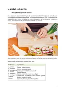 Business Plan Restauration-rapide Page 4