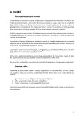 Business Plan Restauration-rapide Page 6