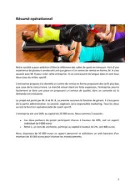 Business Plan Salle-de-fitness-salle-de-sport Page 2
