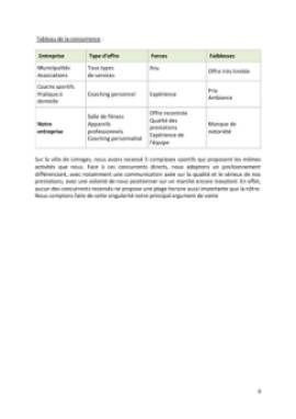 Business Plan Salle-de-fitness-salle-de-sport Page 8
