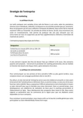 Business Plan Salle-de-fitness-salle-de-sport Page 9