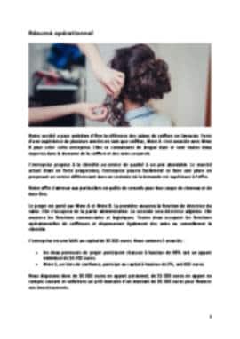 Business Plan Salon-de-coiffure Page 2