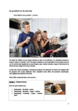 Business Plan Salon-de-coiffure Page 4