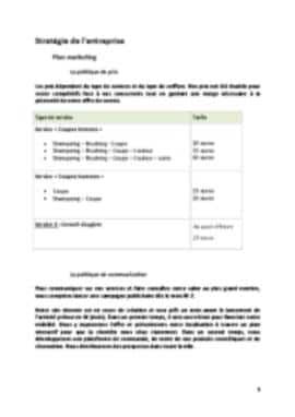 Business Plan Salon-de-coiffure Page 9