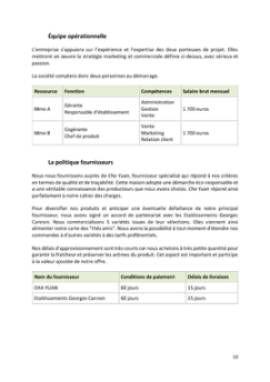 Business Plan Salon-de-the Page 10
