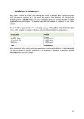 Business Plan Salon-de-the Page 11