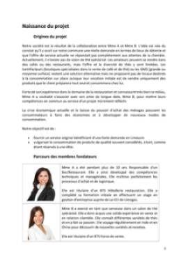 Business Plan Salon-de-the Page 3