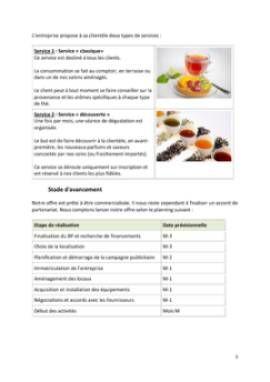 Business Plan Salon-de-the Page 5