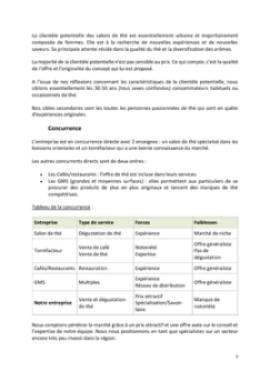 Business Plan Salon-de-the Page 7