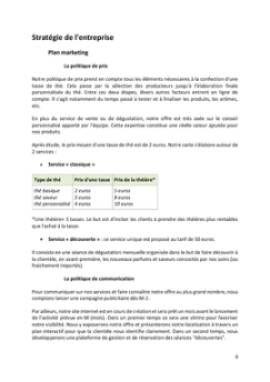 Business Plan Salon-de-the Page 8