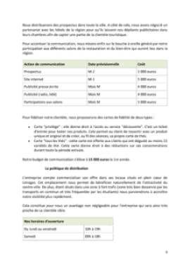 Business Plan Salon-de-the Page 9