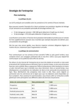 Business Plan Services-a-la-personne Page 11