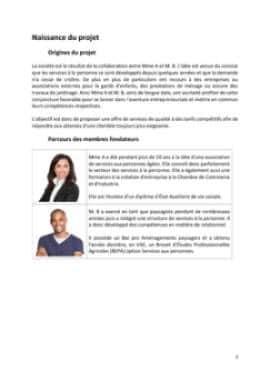 Business Plan Services-a-la-personne Page 3