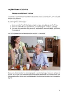 Business Plan Services-a-la-personne Page 4