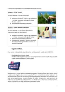 Business Plan Services-a-la-personne Page 5