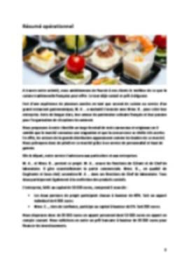 Business Plan Traiteur Page 2