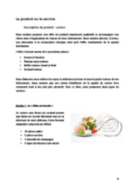 Business Plan Traiteur Page 4