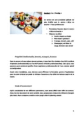 Business Plan Traiteur Page 5